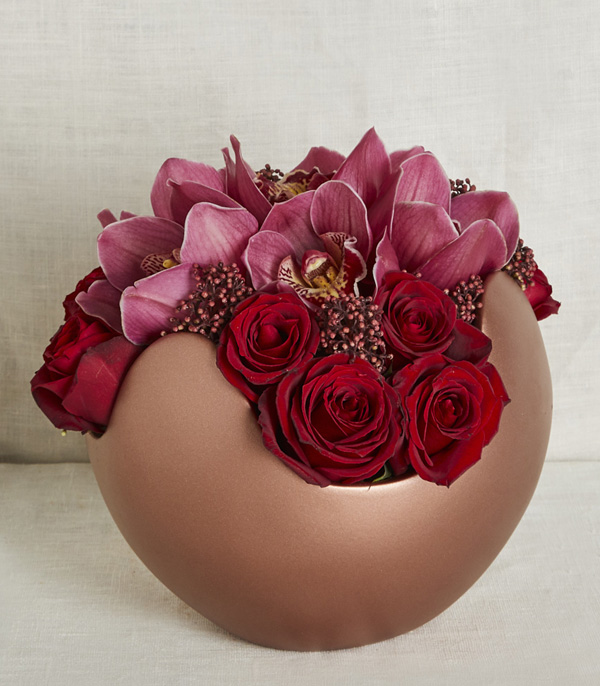Copper Deluxe Red Roses