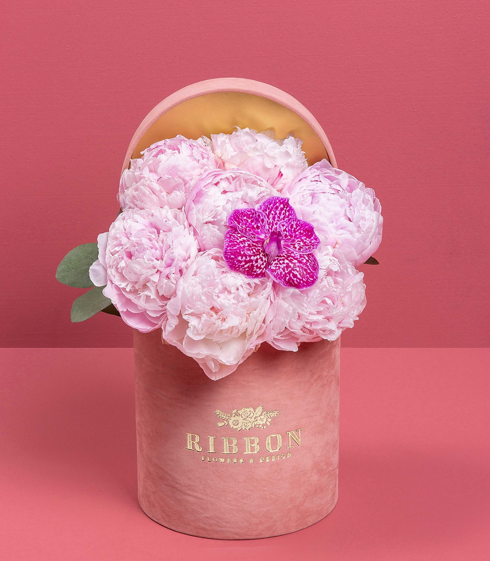 Peonies in Pink Box