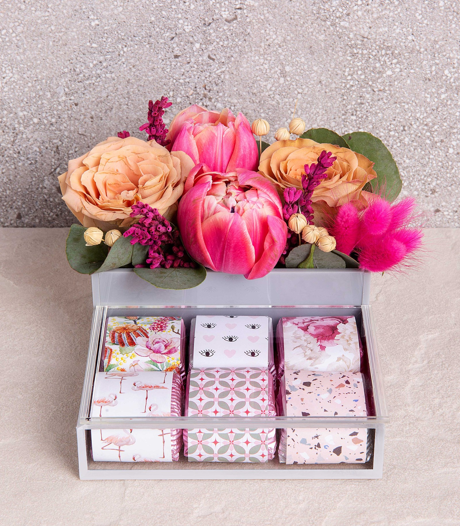 Chocolate Box with Flowers