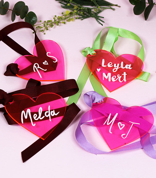 Personalized Name Heart Plexi