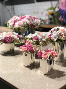 Pembe Çiçek, Gül, Beyaz Çiçek