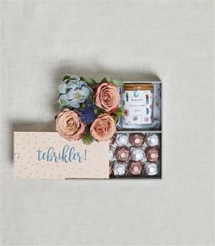 tebrikler kutu, çikolata kutu, iş tebriği