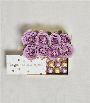 Congratulations kutu, çiçek kutu , çikolata kutu