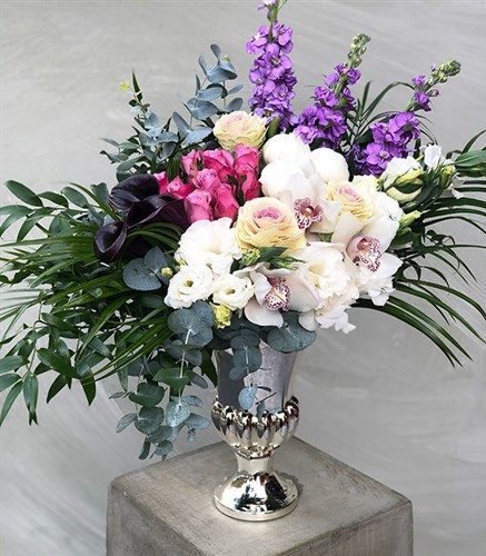 White Fuchsia Deluxe Arrangement