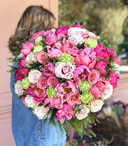 Grand Deluxe Peony Roses Bouquet