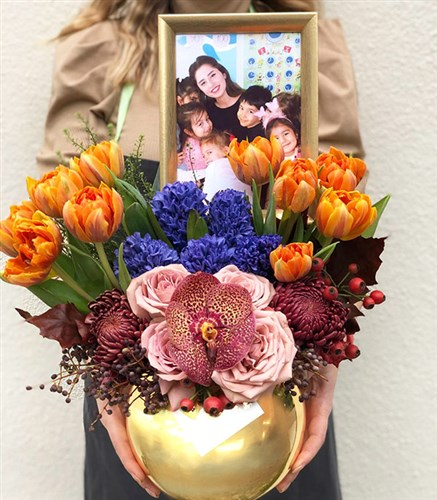 Personal Framed Flower Arrangement