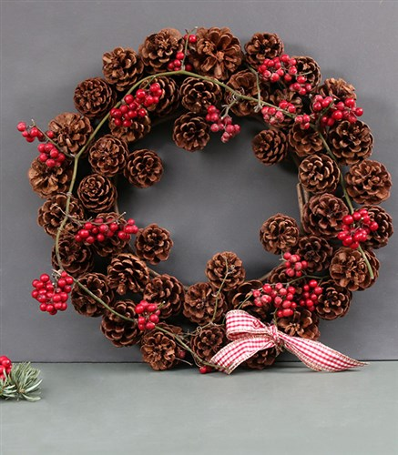 Cone Christmas Door Wreath