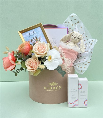 Cream Grand Baby Girl Greeting Box & Pure Project & Miela Kids