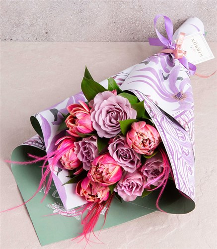 Lilac Rose Pink Tulip Bouquet