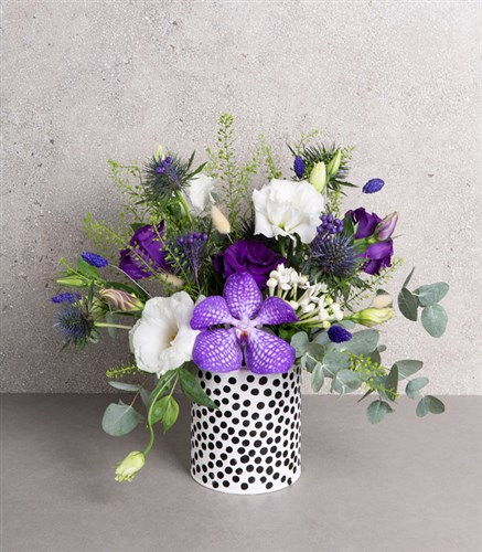 Polka Dot Purple Arrangement