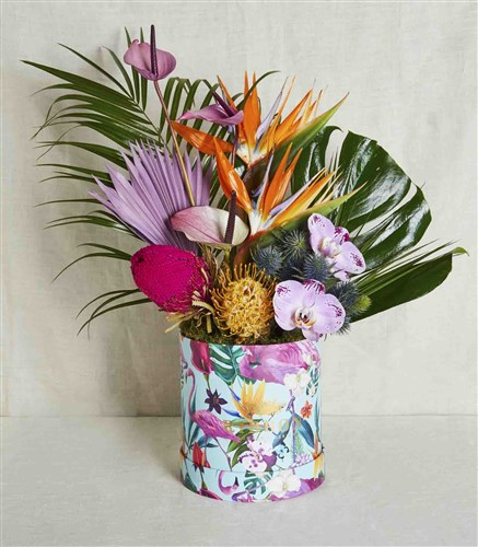 Tropical Flowers in Box