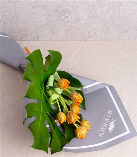 Orange Tulip Bouquet