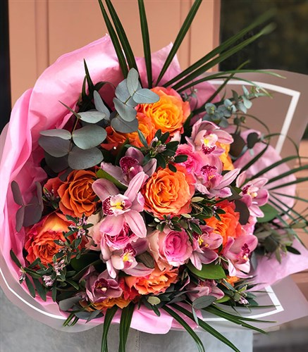Orange Pink Deluxe Bouquet